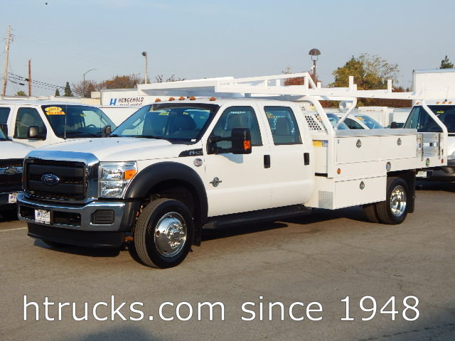 2016 Ford F550 CREW CAB 12' Contractor's Flatbed with RACK - DIESEL
